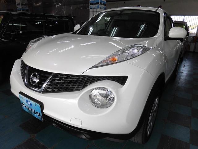 沖縄の中古車 日産 ジューク 車両価格 88万円 リ済込 平成25年 4.8万km パール