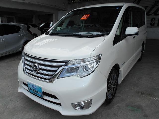 沖縄の中古車 日産 セレナ 車両価格 155万円 リ済込 平成26後 7.9万km パールホワイト