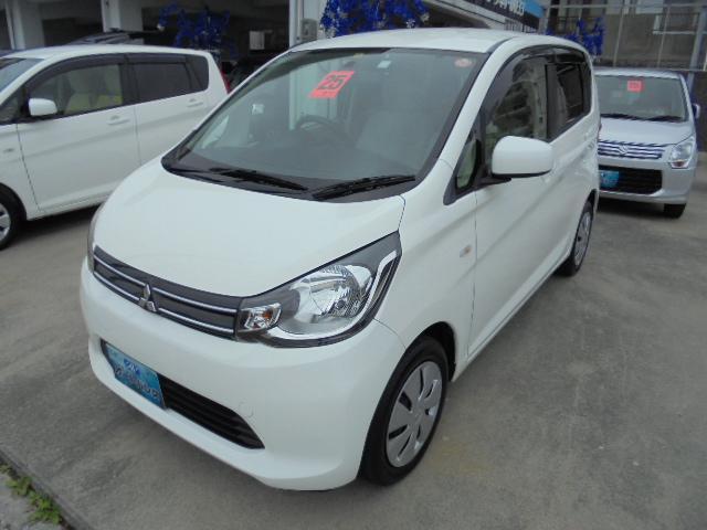 沖縄の中古車 三菱 eKワゴン 車両価格 52万円 リ済込 平成25年 6.1万km ホワイト