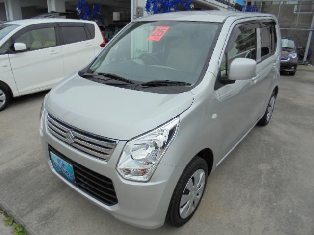 沖縄の中古車 スズキ ワゴンR 車両価格 48万円 リ済込 平成25年 7.9万km シルバーM