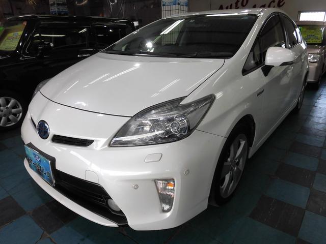 沖縄の中古車 トヨタ プリウス 車両価格 128万円 リ済込 平成25後 7.6万km パール