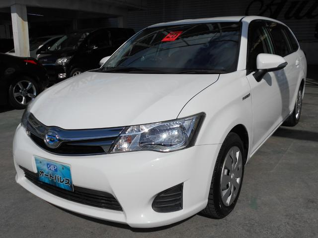 沖縄の中古車 トヨタ カローラフィールダー 車両価格 98万円 リ済込 平成25年 7.3万km ホワイト