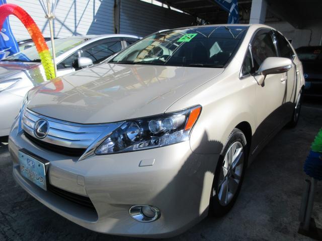 沖縄の中古車 レクサス HS 車両価格 128万円 リ済込 2012(平成24)年 4.4万km ゴールドM