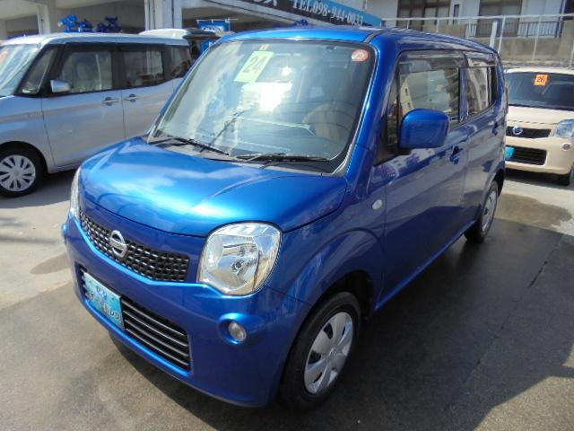 沖縄の中古車 日産 モコ 車両価格 44万円 リ済込 2012(平成24)年 7.0万km ブルーM
