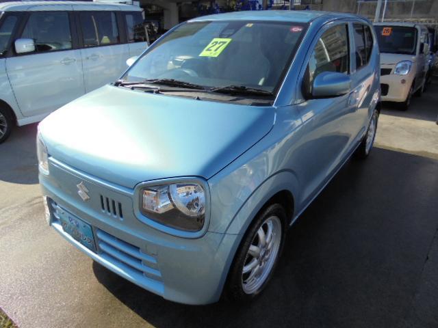 沖縄の中古車 スズキ アルト 車両価格 63万円 リ済込 2015(平成27)年 3.1万km ライトブルーM