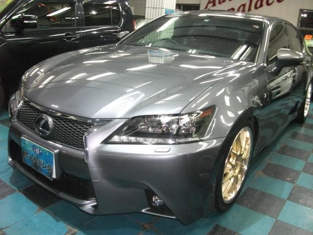 沖縄県の中古車ならGS GS450h Fスポーツ 本革シート 車高調 社外19インチ