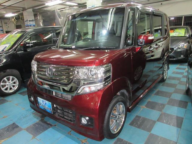 沖縄の中古車 ホンダ N-BOX 車両価格 93万円 リ済込 2013(平成25)年 7.8万km レッド