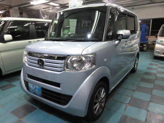 沖縄の中古車 ホンダ N-BOX+ 車両価格 73万円 リ済込 2013(平成25)年 6.1万km ライトブルーM