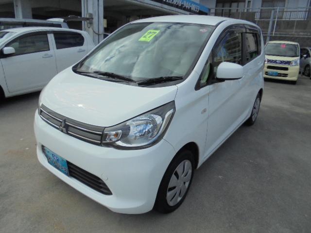 沖縄の中古車 三菱 eKワゴン 車両価格 58万円 リ済込 2015(平成27)年 1.4万km ホワイト