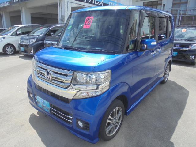 沖縄の中古車 ホンダ N-BOX 車両価格 88万円 リ済込 2016(平成28)年 8.6万km ブルーM