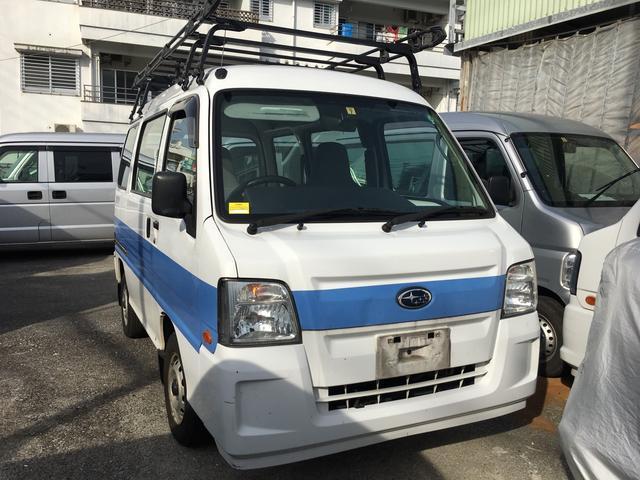 沖縄の中古車 スバル サンバーバン 車両価格 19万円 リ済込 平成23年 24.3万km ホワイト