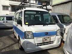 沖縄市 ハヤマ自動車 スバル サンバーバン 5速 2WD キャリアルーフ ホワイト 24.3万K 平成23年