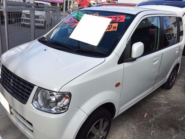 沖縄の中古車 三菱 eKワゴン 車両価格 23万円 リ済込 平成23年 11.5万km ホワイトソリッド