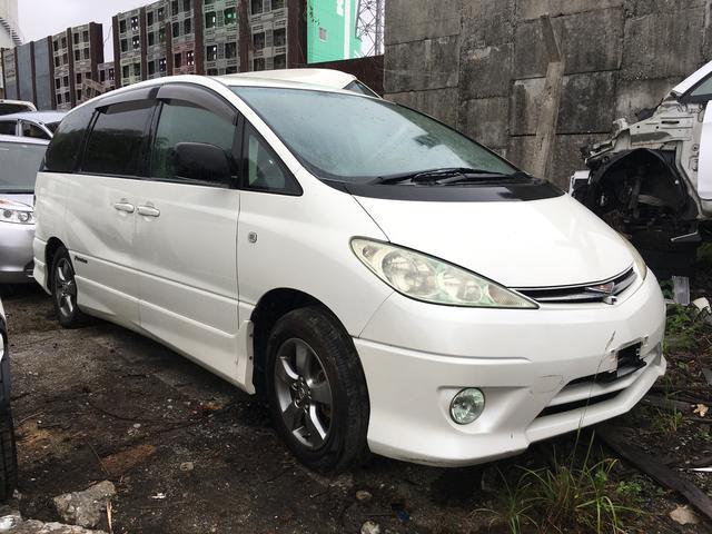 沖縄の中古車 トヨタ エスティマT 車両価格 18万円 リ済込 平成17年 19.0万km ホワイト