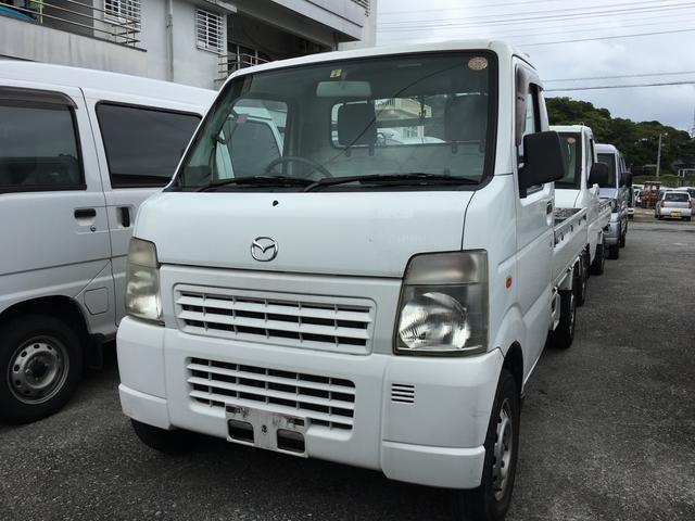 沖縄県の中古車ならスクラムトラック MT5速 軽トラック 平床ボディ 三方開