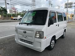 沖縄の中古車 スバル サンバーバン 車両価格 21万円 リ済込 平成24年 17.6万K ホワイト