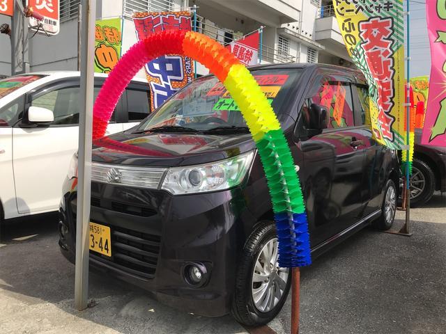 沖縄の中古車 スズキ ワゴンRスティングレー 車両価格 39万円 リ済込 2013(平成25)年 8.3万km ミステリアスバイオレットパール
