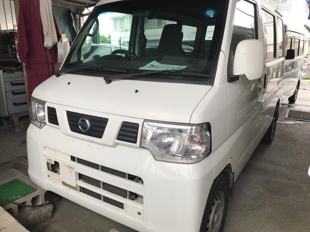 沖縄県の中古車ならNV100クリッパーバン 4WD AT 軽バン スライドドア ホワイト
