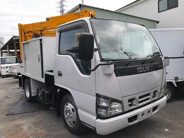 沖縄市 ハヤマ自動車 いすゞ エルフトラック 高所作業車 ホワイト 3.6万km 2006(平成18)年