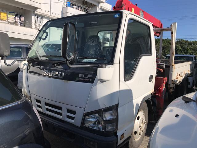 沖縄県沖縄市の中古車ならエルフトラック 2.0t 3段クレーン 3名乗り