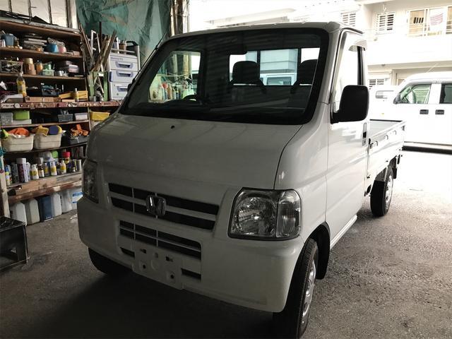 沖縄の中古車 ホンダ アクティトラック 車両価格 21万円 リ済込 2005(平成17)年 14.5万km ホワイト