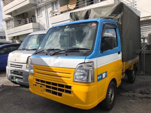沖縄県那覇市の中古車ならスクラムトラック KCエアコン・パワステ 幌 5MT