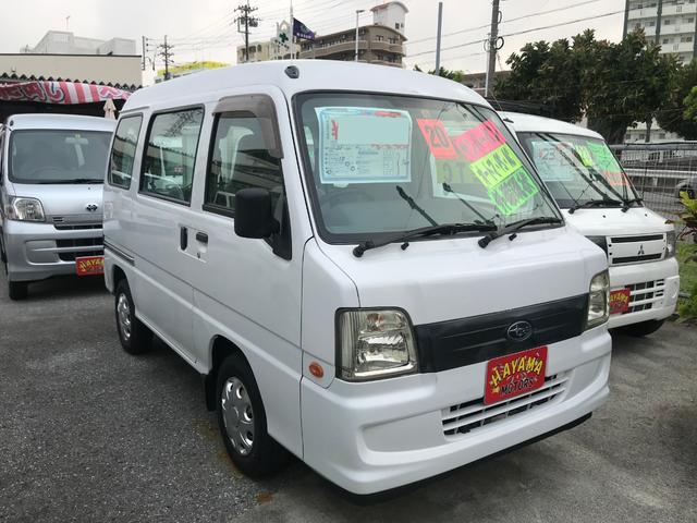 沖縄の中古車 スバル サンバーバン 車両価格 19万円 リ済込 2008(平成20)年 13.9万km ホワイト