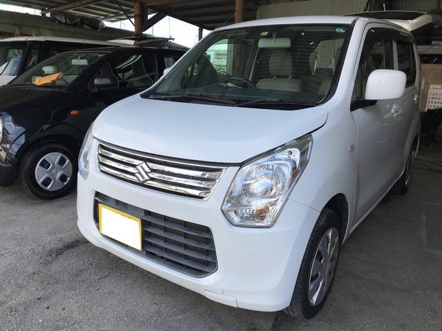 沖縄の中古車 スズキ ワゴンR 車両価格 19万円 リ済込 2013(平成25)年 18.6万km スペリアホワイト
