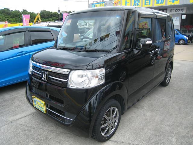 沖縄の中古車 ホンダ N-BOX 車両価格 79万円 リ済込 2016(平成28)年 9.5万km クリスタルブラックパール