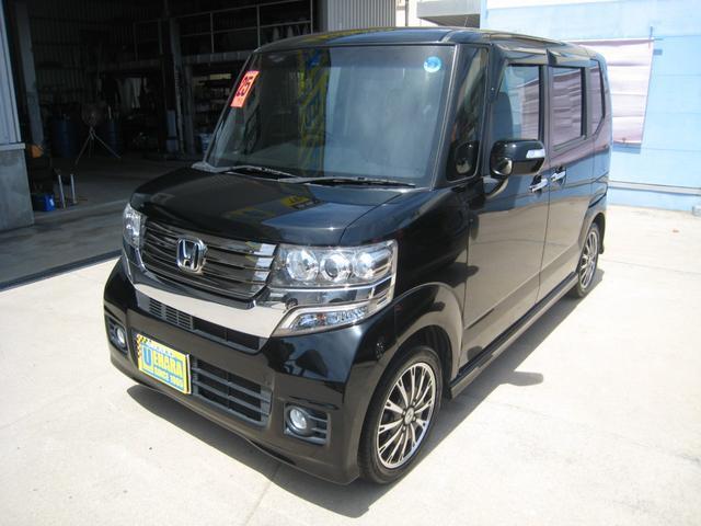 沖縄県の中古車ならN-BOXカスタム G ターボSSパッケージ ナビ・ワンセグTV・Bluetooth・バックカメラ