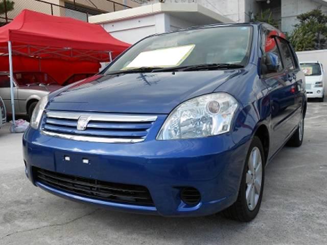 沖縄の中古車 トヨタ ラウム 車両価格 33万円 リ済込 平成15年 6.5万km ダークブルーマイカ
