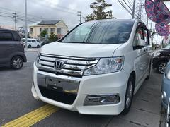 沖縄の中古車 ホンダ ステップワゴンスパーダ 車両価格 109万円 リ済込 平成23年 10.2万K パール