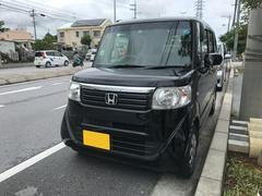 沖縄の中古車 ホンダ N BOX 車両価格 84万円 リ済込 平成24年 4.7万K ブラック