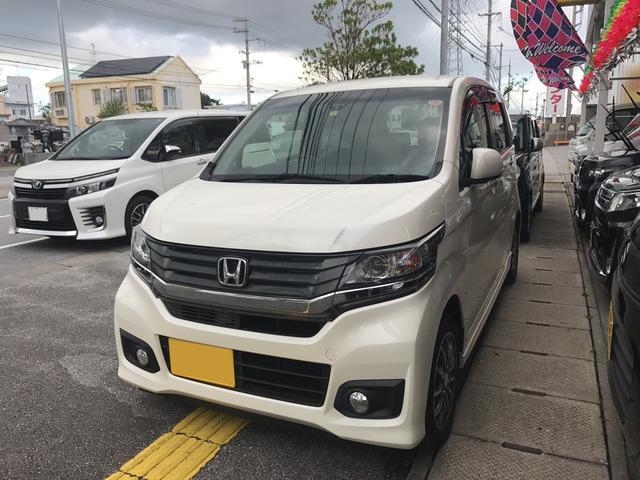 沖縄の中古車 ホンダ N-WGNカスタム 車両価格 88万円 リ済込 平成26年 5.7万km パール