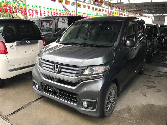 沖縄の中古車 ホンダ N-WGNカスタム 車両価格 95万円 リ済込 平成26年 1.8万km グレー