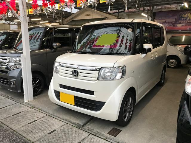 沖縄の中古車 ホンダ N-BOX 車両価格 76万円 リ済込 2012(平成24)年 7.5万km プレミアムホワイトパールII