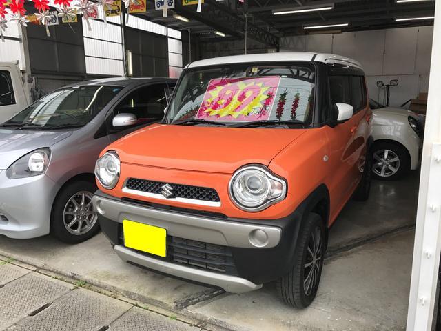 沖縄の中古車 スズキ ハスラー 車両価格 86万円 リ済込 平成26年 6.9万km オレンジII