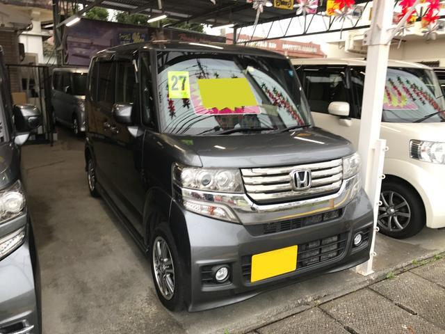 沖縄の中古車 ホンダ N-BOXカスタム 車両価格 109万円 リ済込 2015(平成27)年 4.4万km グレー