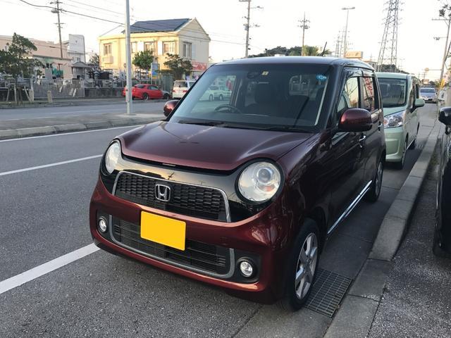 沖縄の中古車 ホンダ N-ONE 車両価格 88万円 リ済込 2015(平成27)年 2.9万km ワイン