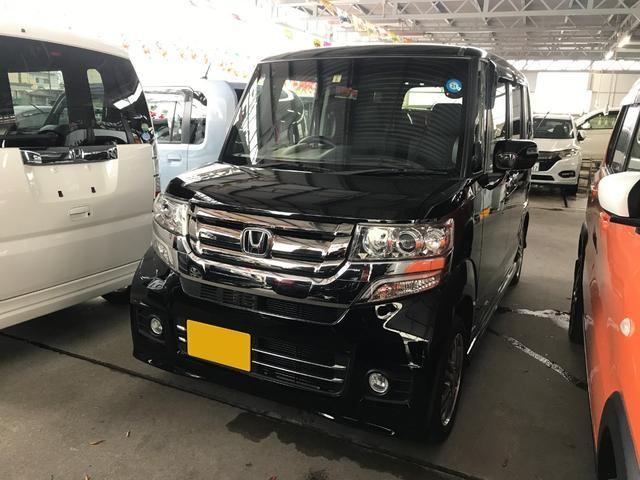沖縄の中古車 ホンダ N-BOXカスタム 車両価格 122万円 リ済込 2016(平成28)年 3.9万km ブラック