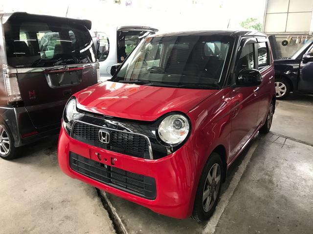 沖縄の中古車 ホンダ N-ONE 車両価格 76万円 リ済込 2013(平成25)年 5.1万km レッドII