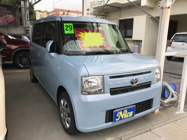 沖縄の中古車 トヨタ ピクシススペース 車両価格 67万円 リ済込 2017(平成29)年 4.4万km ライトブルー