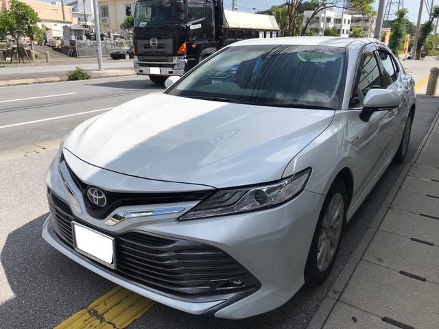 沖縄の中古車 トヨタ カムリ 車両価格 209万円 リ済込 2017(平成29)年 7.3万km パール