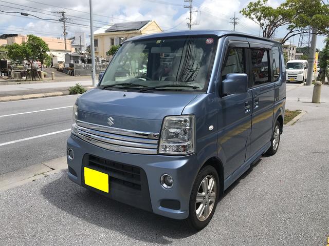 沖縄の中古車 スズキ エブリイワゴン 車両価格 68万円 リ済別 2013(平成25)年 9.9万km ライトブルー