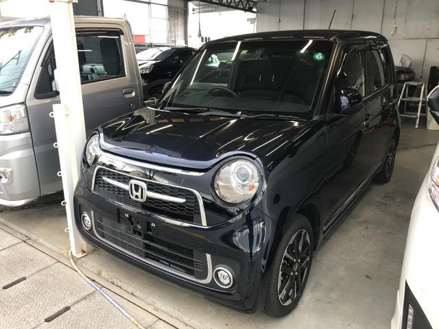 沖縄の中古車 ホンダ N-ONE 車両価格 119万円 リ済込 2019(令和1)年 1.2万km ブルー