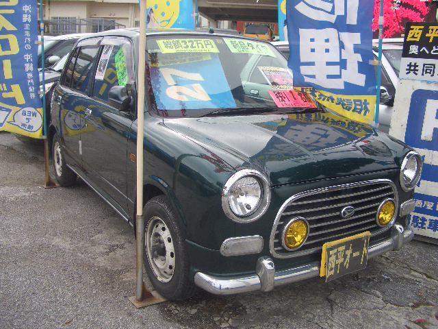 沖縄の中古車 ダイハツ ミラジーノ 車両価格 24万円 リ済込 平成13年 16.7万km グリーンM