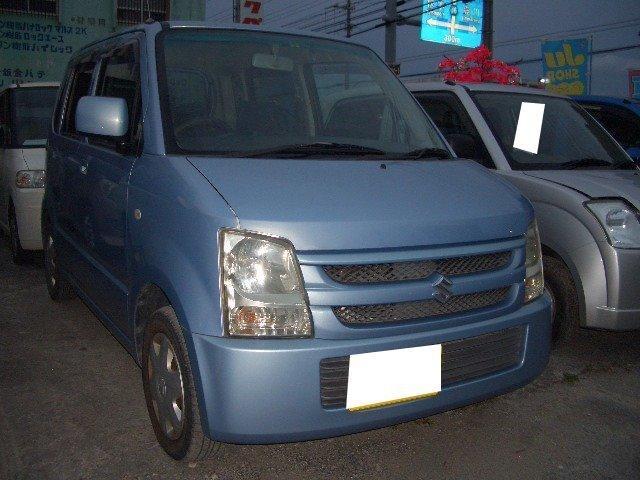 沖縄の中古車 スズキ ワゴンR 車両価格 24万円 リ済込 平成19年 13.8万km ライトブルーM