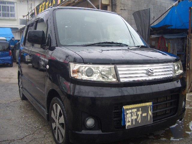 沖縄の中古車 スズキ ワゴンR 車両価格 25万円 リ済込 2008(平成20)年 14.0万km ブラックM
