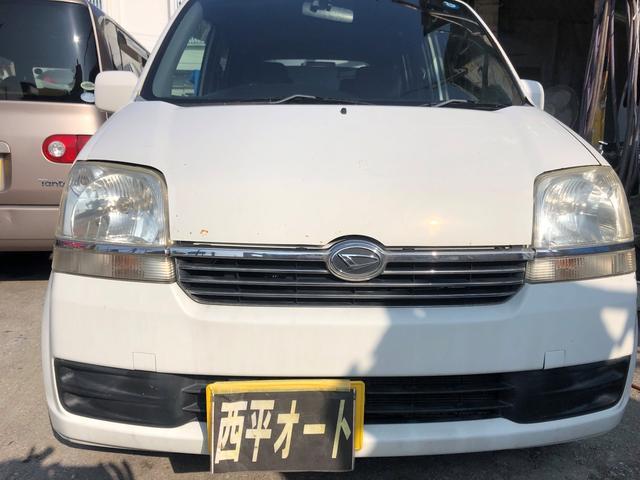 沖縄の中古車 ダイハツ ムーヴ 車両価格 12万円 リ済込 2003(平成15)年 14.8万km ホワイト
