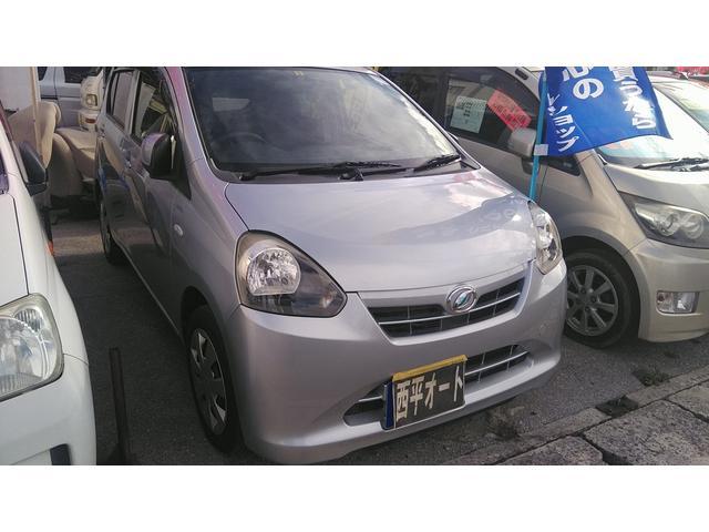 沖縄の中古車 ダイハツ ミライース 車両価格 31万円 リ済込 2013(平成25)年 9.5万km シルバーM